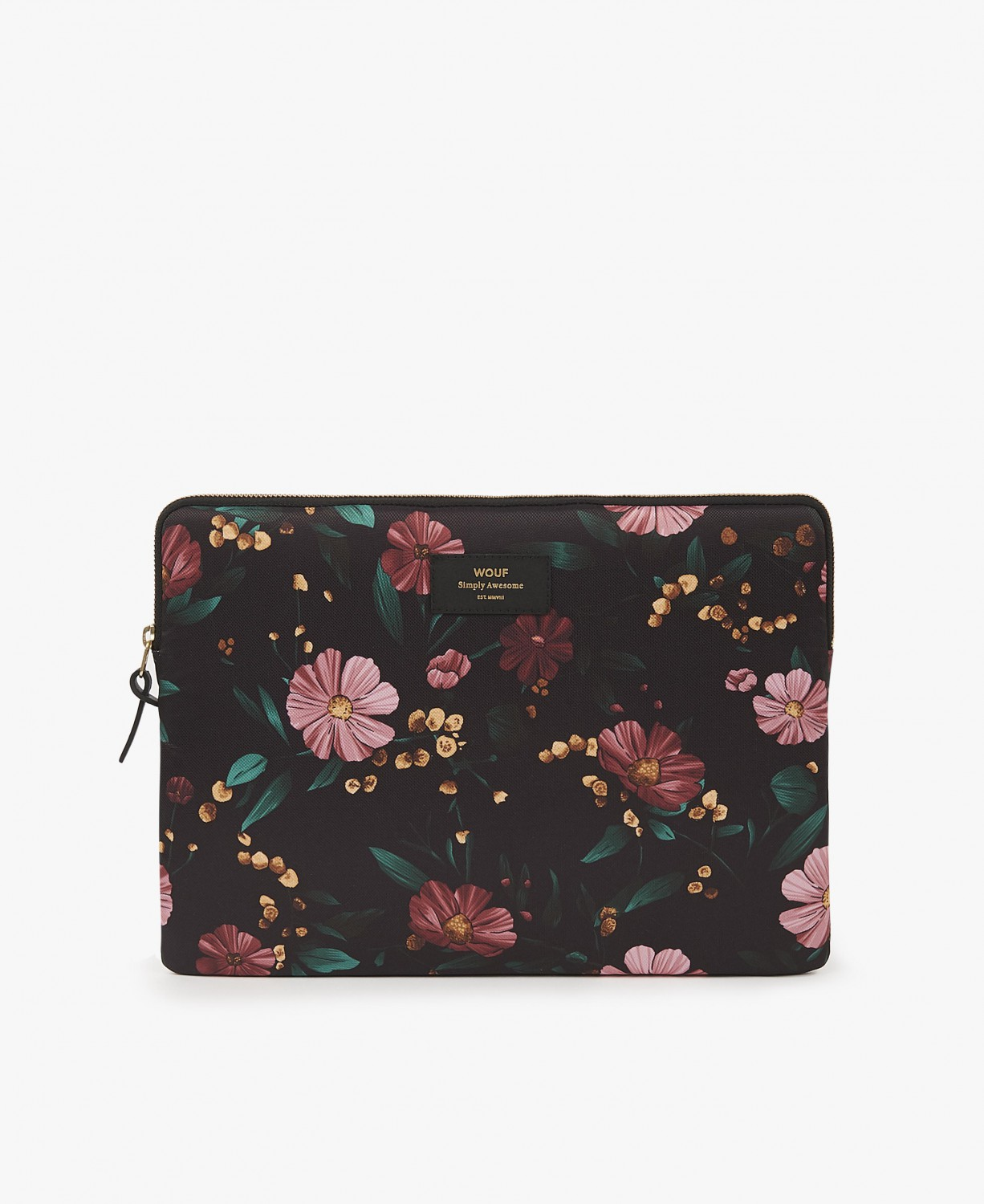 WOUF | Black Flowers Laptop sleeve 15 inches